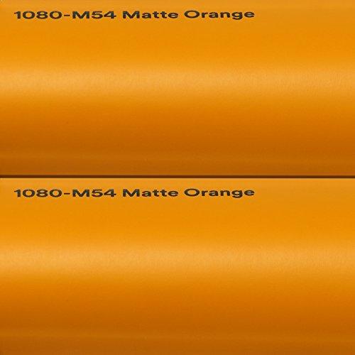 3M 21,71€/m² Autofolie Scotchprint Wrap Film 1080 Matte orange gegossene Matt Profi Folie 152cm breit BLASENFREI mit Luftkanäle