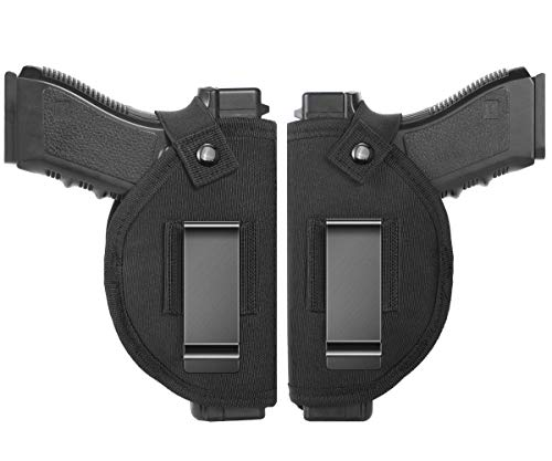 TACwolf Universal Holster Gun Concealed Carry IWB OWB Right Left Holster Fits S&W M&P Shield/Glock 26 27 29 30 33 42 43 / Springfield XD XDS/Ruger LC9 & All Similar Handguns