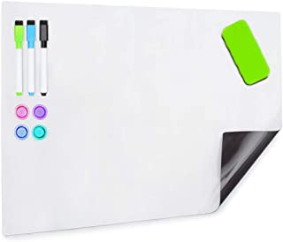 HAND IN HAND Dry Erase Board Sheet Fridge Magnetic Soft Whiteboard for Refrigerator, Home, Office, School (432 X 304 MM)