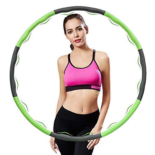 LangKing Vanpow Hula Hoop Reifen Die Zur Gewichtsreduktion und Massage Verwendet Werden KöNnen, 6-8 Segmente Abnehmbarer Hoola Hoop Reifen Geeignet Für Fitness/Sport/Zuhause/BüRo/Bauchformung,(1.2Kg)