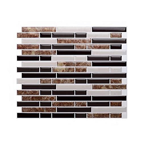Vinilos para azulejos de pared Mosaico autoadhesivo azulejos espalda pegatina de pared 3D DIY Epoxi Baño Cocina Decoración para el hogar A prueba de aceite Etiquetas de pared a prueba de agua Aislamie