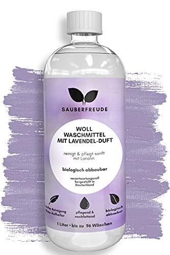 Sauberfreude Wollwaschmittel Feinwaschmittel mit Lanolin ökologisch,1l biologisch abbaubares enzymfreies Waschmittel flüssig für Schurwolle, Kaschmir und Merino