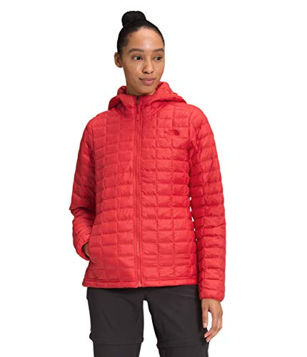 The North Face Women's ThermoBall Eco Hoodie, Horizon Red Matte, 3XL
