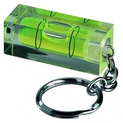 Schlüsselanhänger mit Mini-Wasserwaage von RKGifts, Werkzeug, Heimwerken, originelles Geschenk, 2 Achsen, Mini spirit level