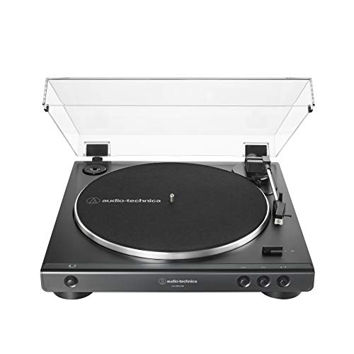 Audio-Technica AT-LP60XUSB-BK Fully Automatic Belt-Drive Stereo Turntable, Black, Hi-Fi, 2 Speed, Convert Vinyl to Digital