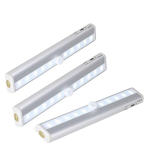 Lampe LED avec Capteur de Movement Sans Fil Stick-on 10-LED Lampe Ideal pour le Placard/ l¡¯Escalier/ le Carage/ le Couloir¡
