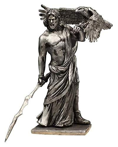 WQQLQX Statue Griechische Gottes Statue, Zeus Skulptur Antike Griechisch Olympus God Metall Modell Handwerk Sammlung Desktop Dekoration Handgeschnitzte Statuette Skulpturen