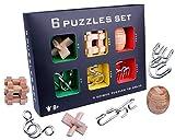 Perfecbuty 6PCS 3D Gioco di Metallo Set, Puzzle Rompicapo Classico Educativo Jigsaw,IQ Sfi...