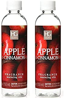 Hosley Premium Grade Concentrated Apple Cinnamon Scented Warming Oils for Aromatherapy Box of 2 6 Fluid Ounces Each Ideal Gift for Weddings Spa Bathroom W1