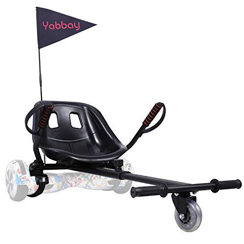 yabbay Hover Go Karts Attachment con Seggiolino Grande da Corsa e Ruota Durevole- Overkart Compatibile con Hoverbords...