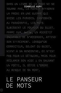 Le panseur de mots par Isabelle Aupy