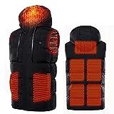 joyvio Chaleco con calefacción para hombres, chaqueta con calefacción eléctrica y calefacción Chaleco con calefacción USB Chaleco de invierno ajustable y lavable para acampar al aire libre en invierno