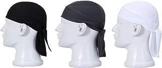 UHEREBUY Summer Sweat Skull Cap/Do Dew Rag Helmet Liner Beanie Caps Hat Head Cover UV Protection Doo Rags for Women and Men