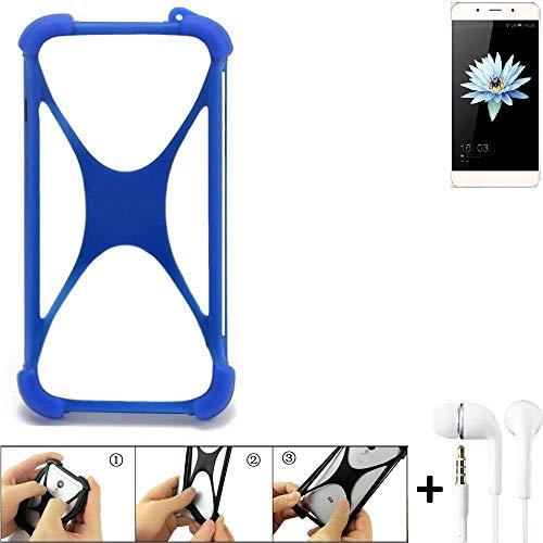 K-S-Trade® Bumper Für Hisense C1 Schutzhülle Handyhülle Silikon Schutz Hülle Cover Case Silikoncase Silikonbumper TPU Softcase Smartphone, Blau (1x), Headphones