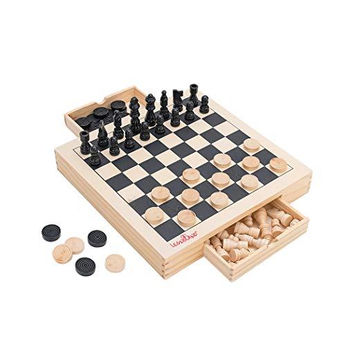 Globo Toys Globo 37504 Legnoland - Juego de Mesa de ajedrez de...