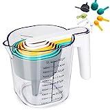 Juego de tazas medidoras, 10 piezas de taza medidora de ABS, cucharas, raspador, embudo, separador de huevos, utensilios de cocina sin BPA aptos para el lavavajillas
