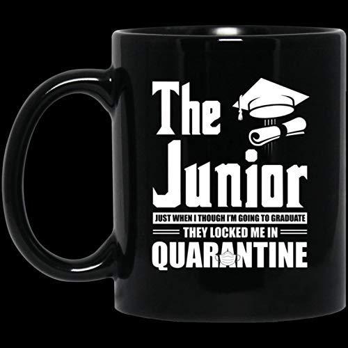 N\A Taza de café Divertida Regalo The Junior 2020 Justo Cuando me voy a graduar Me encerraron en una Divertida Taza de café de 11 oz