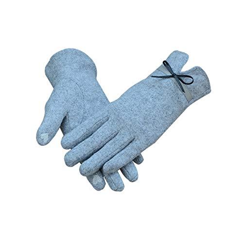 Vohoney Handschuhe Touchscreen Handschuhe Winterhandschuhe Sporthandschuhe Outdoor Laufhandschuhe Stricken Gloves Warme Fahrradhandschuhe Thermohandschuhe für Damen(Grau Handschuhe für Damen)