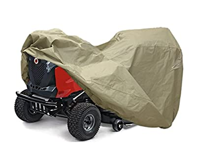 "Lawn Mower Tractor Cover with Elastic Hems to Fit a Deck up to 54"" Beige Color Product Size 72"" L x 44"" W x 46"" H"