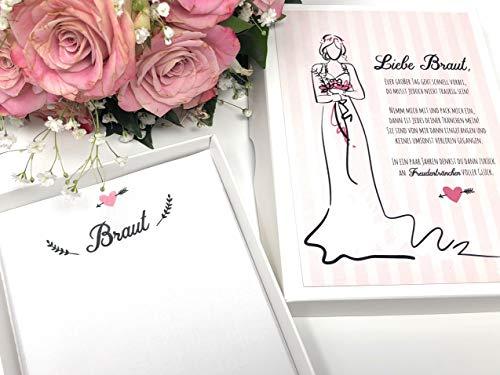Hochzeit Geschenk Braut - Taschentuch für Freudentränen