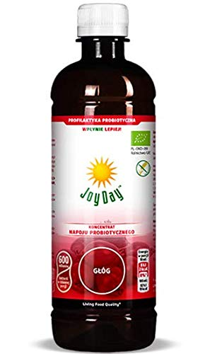 JOY DAY Probiotic Drink Concentrate Hawthorn | 500 ml |15 Health Strain with Lactobacillus Acidophilus, Lactobacillus Rhamnosus Advanced Multi Bacteria