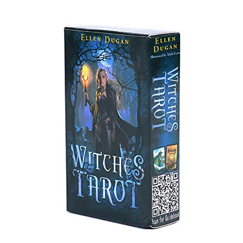 DFFH Witches Tarot Cards Fate Adivination Tarot Card Oracle Card Solitaire Juego para Principiantes y lectores Expertos