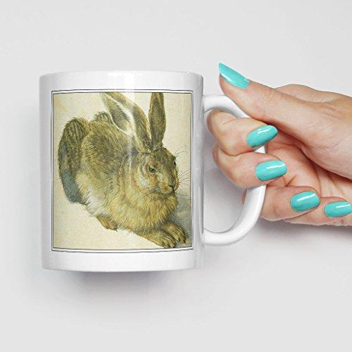Kaffeetasse Albrecht Dürer der Hase – 325 ml, weiße Keramik