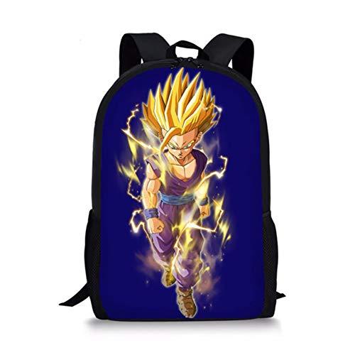 YLG Campus Schoolbag Children's Backpack Dragon Ball Z Anime Goku Backpack Daypack Bookbag Laptop School Bag