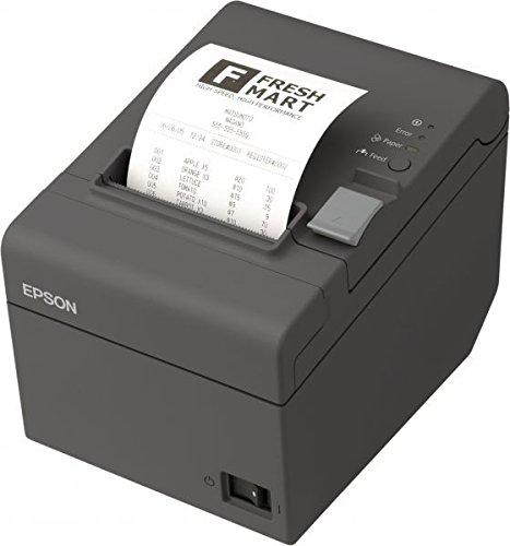 Epson TM-T20II Thermoempfangsdrucker USB, Ethernet, 8 Punkte / mm (203 dpi) Schwarz Mit Netzteil, Netzkabel (EU) und Wandhalterung