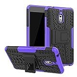 LFDZ Nokia 2.1 Hülle, Abdeckung Cover schutzhülle Tough Strong Rugged Shock Proof Heavy Duty Case Für Nokia 2.1 (Nicht für Nokia 2 2017),Violett