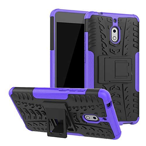 LFDZ Nokia 2.1 Hülle, Abdeckung Cover schutzhülle Tough Strong Rugged Shock Proof Heavy Duty Hülle Für Nokia 2.1 (Nicht für Nokia 2 2017),Violett