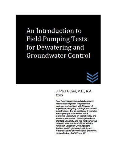 An Introduction to Field Pumping Tests for Dewatering and Groundwater Control
