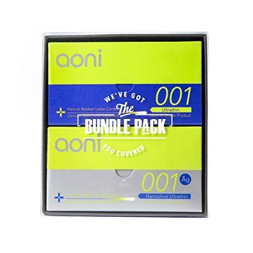 Aoni Condoms Value Pack - Ultrathin 001 12 PCS & Nanosilver Ultrathin 001 12 PCS Bundle Pack- 001 Series