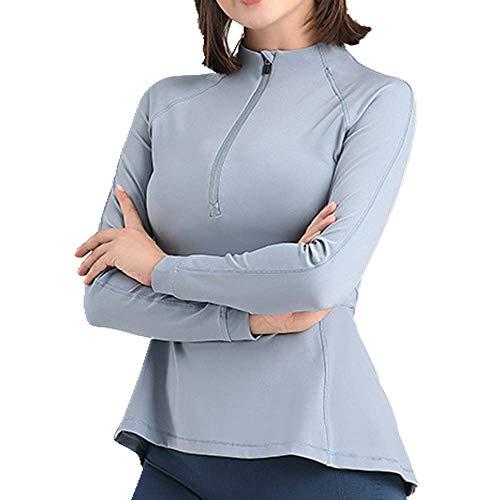 U/A - Traje de yoga con cremallera para mujer Azul azul L