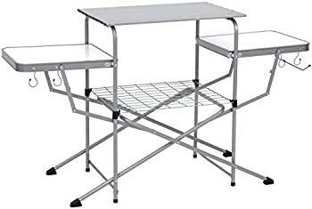 BCP Portable Folding Grilling Table w/ Carrying Case