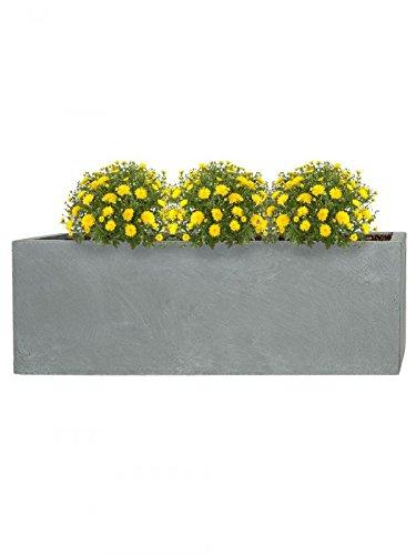 Bild zu PFLANZWERK® Pflanzkübel DIVIDER Grau 72x60x25cm *Frostbeständiger Blumenkübel* *UV-Schutz* *Qualitätsware*