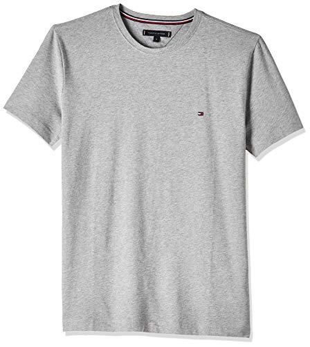 Tommy Hilfiger Core Stretch Slim Cneck tee Camiseta, Gris (Cloud Htr 501), Small para Hombre