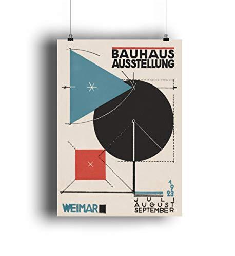 MReinart Bauhaus Ausstellung Weimar 1923 - DIN A2 Poster (hochformat) -Einheitsgröße-Weiß