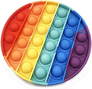 ESSEN Rainbow Circle Pop Push Bubble Gadgets Fidget Sensory Toy for Kids and Adults Rainbow Circle Pop Push Bubble Gadgets...