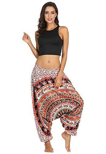 URVIP Damen's Aladin Pants, das Original, Design-Style: 'V' Peacock (Limitierte Auflagen) Naturstoff!! Das Original, Qualitätshose YEB-008 M