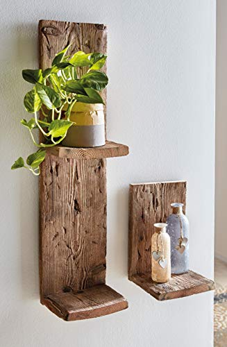 Wandregal aus recyceltem Paletten-Holz, groß, 77 cm hoch, Blumenregal, Deko-Regal
