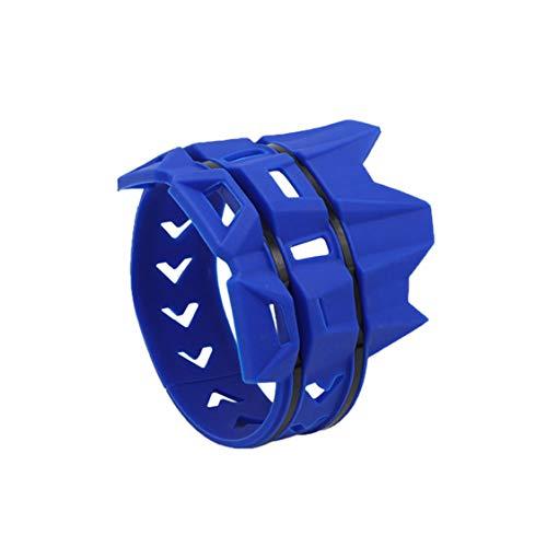 Idiytip Silencer Protection Auspuffschutz Motorrad Auspuff Rohrschutz Auspuffrohr Schutz(Blau)