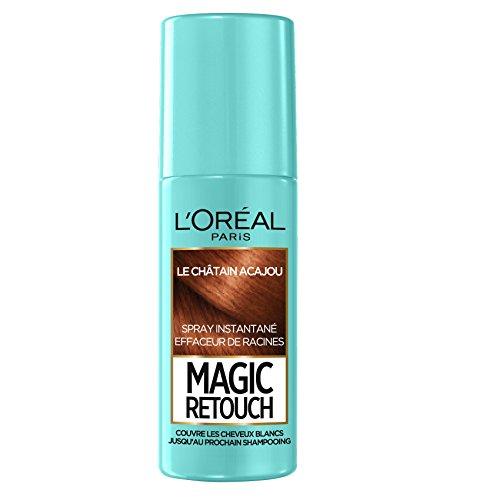 L'Oréal Paris Spray Instantané Correcteur de Racines & Cheveux Blancs, Magic Retouch, Acajou, 75 ml