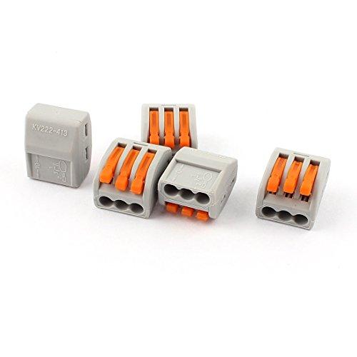 X-Dr 5Pcs 3-Draht-Kabelverbindungshebel-Klemmverschluss-Klemmblock AC 250V 32A (927389ff50fa00ffb88da77d70591da6)