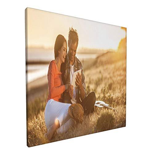 Toile personnalisée avec photos Photo sur toile Toile personnalisée Photo Idée cadeau et affiche murale de décoration intérieure (30x30cm)