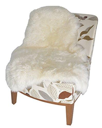 Leibersperger Felle Tapis en peau d'agneau/peau de mouton/coussin de lit/fauteuil Blanc XL 110 cm