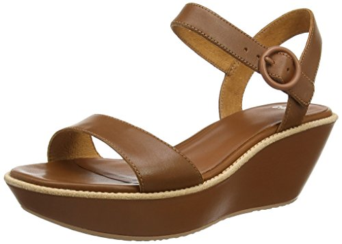 Camper Damen Damas Plateau Sandalen, Braun (Medium Brown), 36 EU