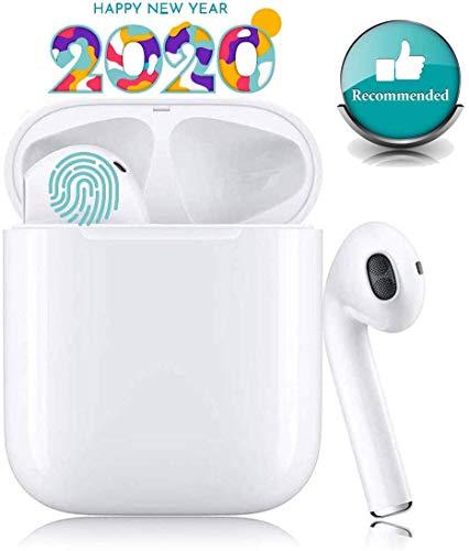 Preisvergleich Produktbild Bluetooth-Kopfhörer, Kabellose Kopfhörerr IPX7 wasserdichte, Noise-Cancelling-Kopfhörer, Geräuschisolierung, mit 24H Ladekästchen und Mikrofon für Android / iPhone / Samsung / Apple AirPods Pro