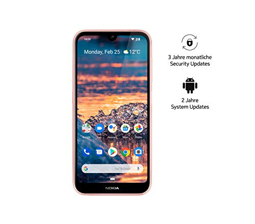 Nokia 4.2 Dual SIM Smartphone - Deutsche Ware (14,5 cm (5.71 pollici), fotocamera principale 13 MP, 3 GB RAM, 32 GB di memoria interna, Android 9 Pie) rosa sabbia, Amazon Edition con Power Bank