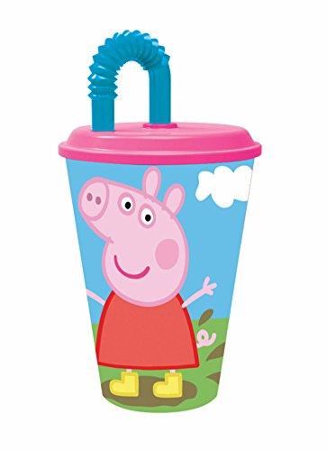 Pig-52830 Peppa Pig-Plastico value 430ml vaso caña (Stor 52830), multicolor, 3 años